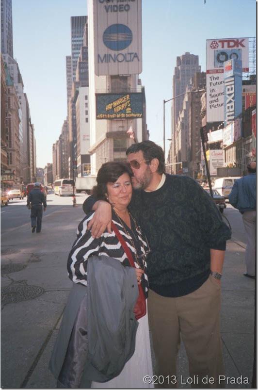 Loli y Joaquín en Times Square, Nueva York
