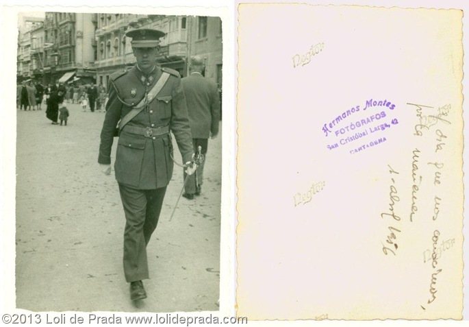 Joaquín de Prada González el 2 de abril de 1956 cuando conoció a Loli
